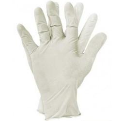 Rękawiczki lateksowe pudrowane L