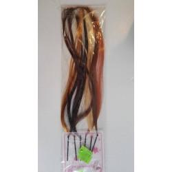 Ozdoba do włosów , kolorowe pasemka 6 szt