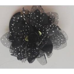 Gumka kwiat czarna