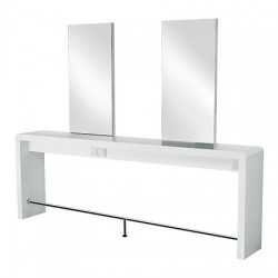 Podwójna konsoleta  Reflection II z aluminiowym podnóżkiem