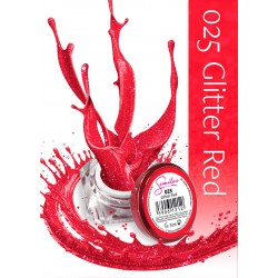 Semilac UV Gel Color 025 Glitter Red 5 ml